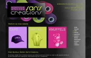 plaatje nieuwe website Borduuratelier San's Creations