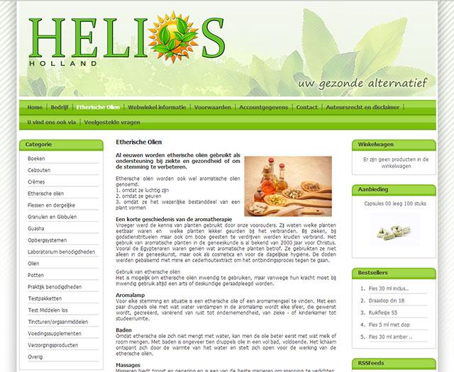 Webshop en nieuw logo voor Helios Holland