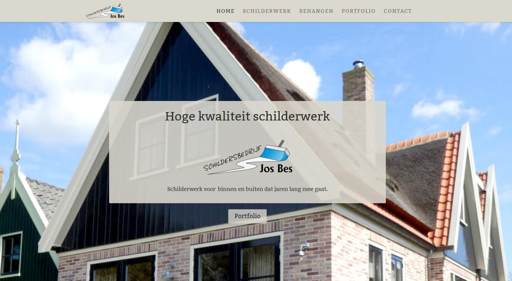 Website voor Schildersbedrijf Jos Bes