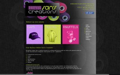 Website restyling voor Borduur Atelier San's Creations